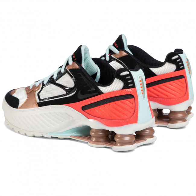 Chaussures NIKE - Shox Enigma CT3451 100 Sail/Black/Mtlc/Red Bronze - Sneakers - Chaussures basses - Femme
