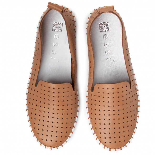Chaussures Basses Nessi - 18390/m Camel1_1 Plates Femme