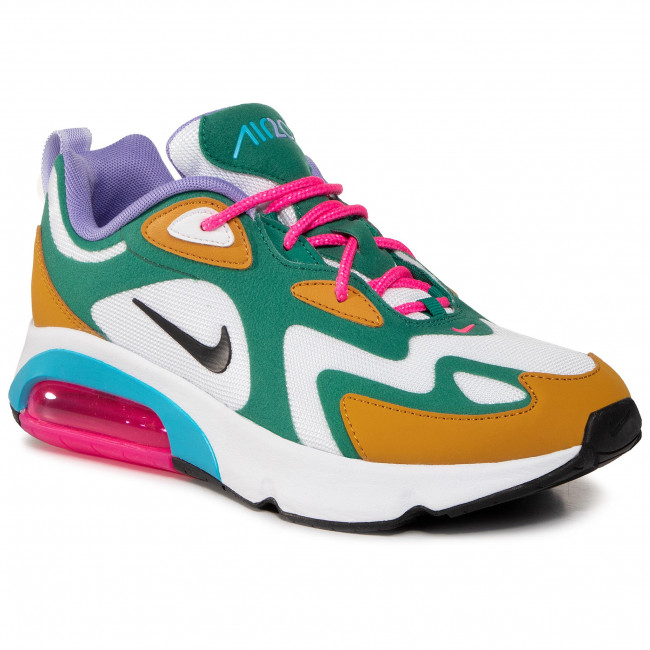 Chaussures NIKE - Air Max 200 AT6175 300 Mystic Green/White/Gold Suede