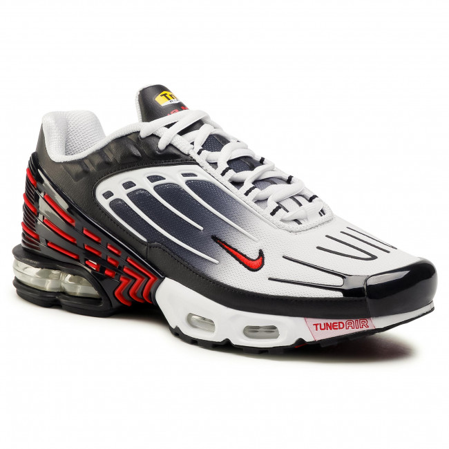 Chaussures basses NIKE - Air Max Plus III (GS) CD6871 004 Black/University Red/White