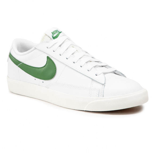 Chaussures NIKE - Blazer Low Leather CI6377 108 White/Forest Green/Sail