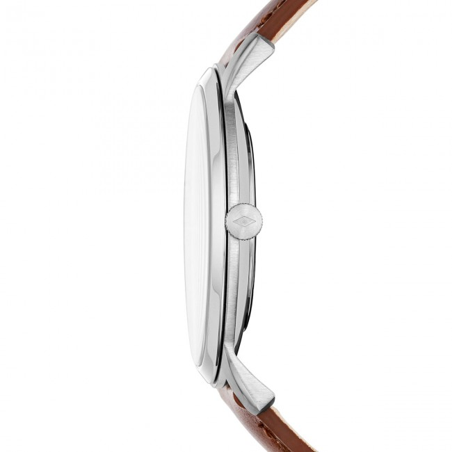 Montre Fossil 3h Fs5440 silver The Brown Minimalist PulwXZTOki
