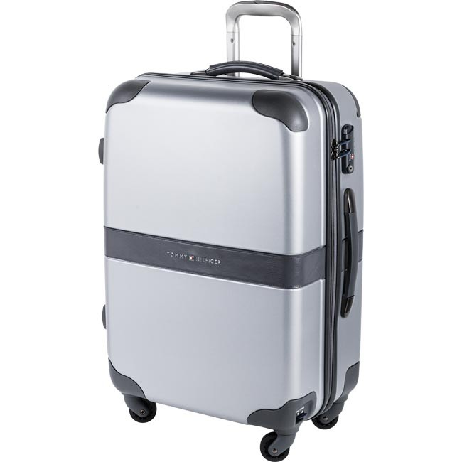 Valise rigide taille moyenne TOMMY HILFIGER - Heritage Medium Trolley 4 Wheels0BTWS302HP Silver