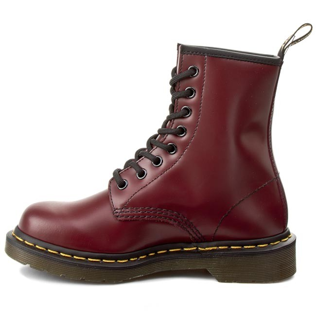 Chaussures Cherry DrMartens 1460 10072600 Smooth Rangers Red CBoxred