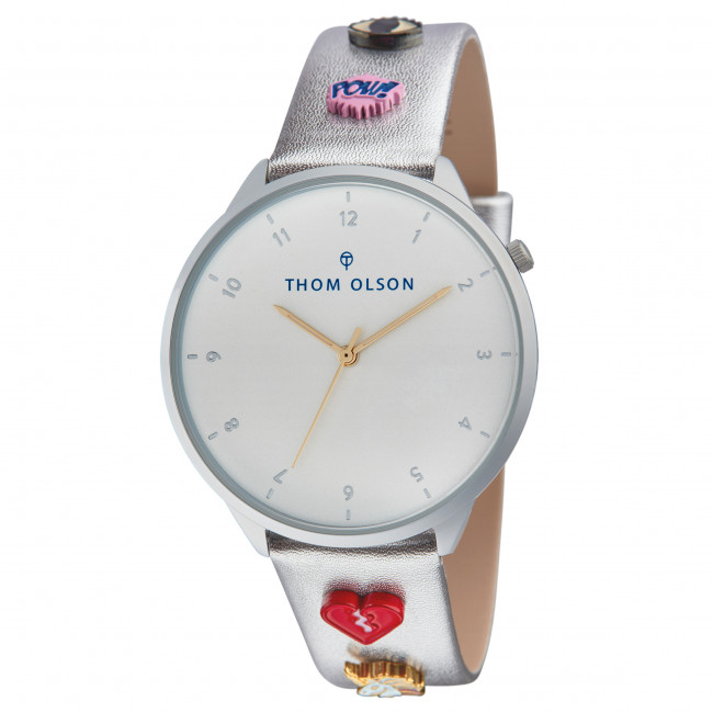 Olson Thom Dream silver Montre Love Day Cbto056 Popping Silver 6bYgvIf7ym