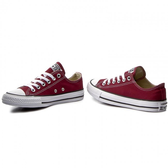 Sneakers CONVERSE - All Star Ox M9691C Maroon - Baskets - Chaussures basses - Femme