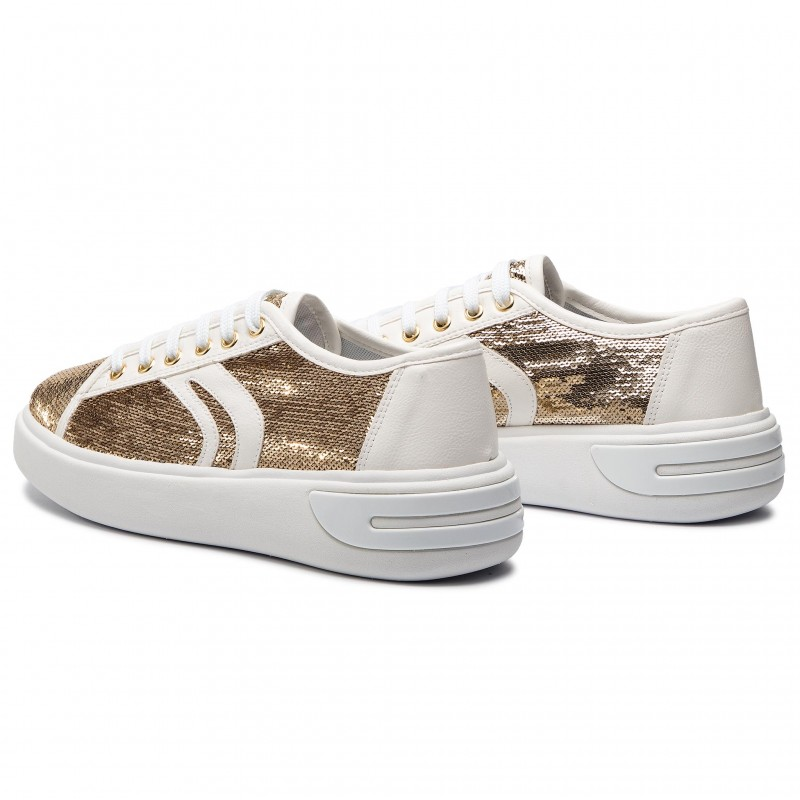 Sneakers GEOX - D Ottaya E D92BYE 0AT54 C0583 Gold/White - Sneakers - Chaussures basses - Femme