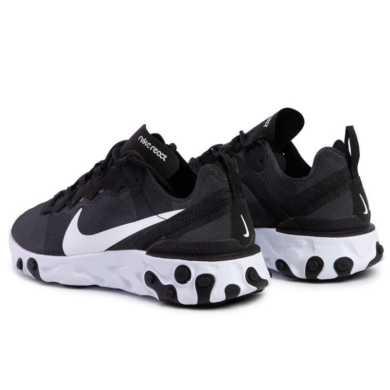 Chaussures NIKE - React Element 55 BQ2728 003 Black/White - Sneakers - Chaussures basses - Femme
