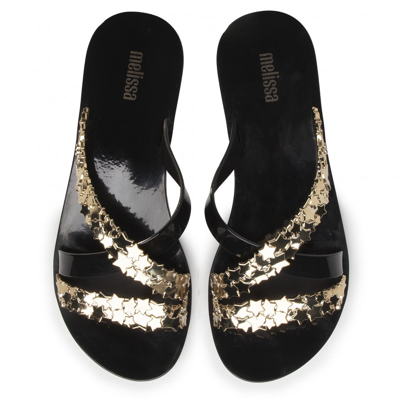 Tongs MELISSA - Bright Stars Ad 32771 Black/Gold 50919 - Tongs - Mules et sandales - Femme