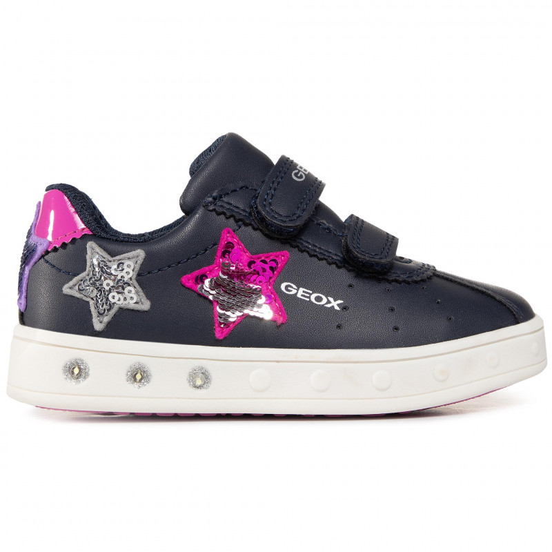 Sneakers GEOX - J Skylin G. C J928WC 000BC C4268 M Navy/Fuchsia - Fermeture scratch - Chaussures basses - Fille - Enfant