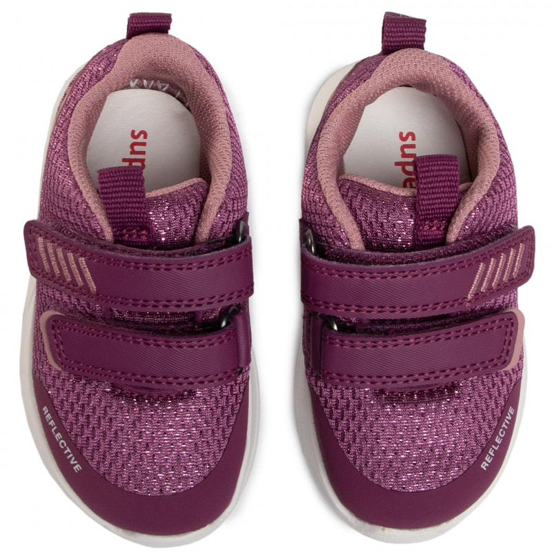 Sneakers SUPERFIT - 1-009207-5000 M Rot/Rosa - Fermeture scratch - Chaussures basses - Fille - Enfant