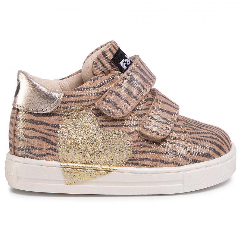 Sneakers NATURINO - Falcotto By Naturino Heart 0012014118.10.0Q06 Platino - Fermeture scratch - Chaussures basses - Fille - Enfant