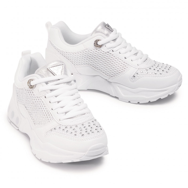 Sneakers GUESS - FL6TYA FAB12 WHITE - Sneakers - Chaussures basses - Femme