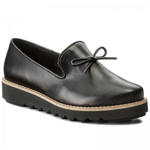 Noir 7455 Wojas Loafers Chaussures Femme Basses 51 4vxqwTH