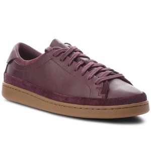 save off e5099 d4ba7 Sneakers CLARKS - Nathan Craft 261371037 Aubergine