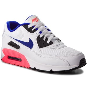 info for 3677b a17bd Chaussures NIKE - Air Max 90 Essential 537384 136 White Ultramarine Solar  Red