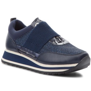 Sneakers TOMMY HILFIGER Elastic Retro Runner FW0FW03336 Midnight 403 ddb60a887c