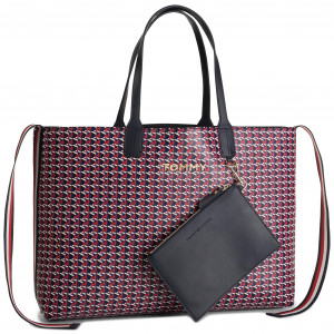 Sac à main TOMMY HILFIGER Iconic Tommy Tote Mono AW0AW06911 903