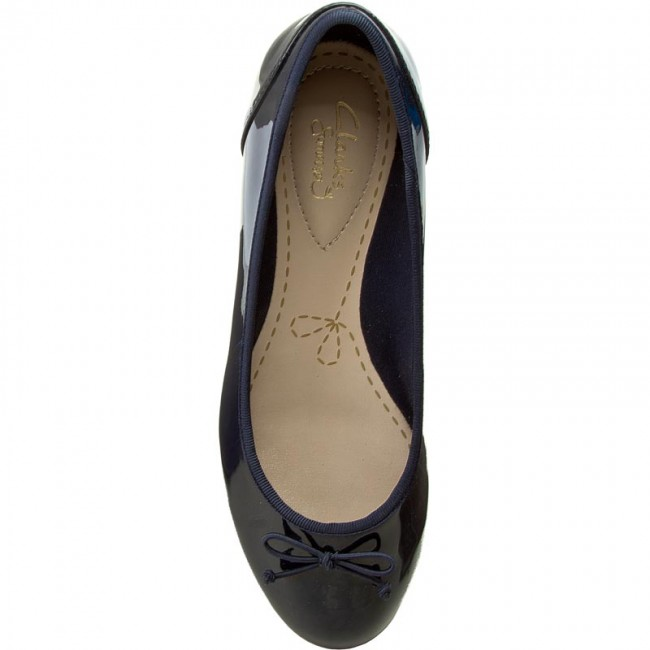 Ballerines CLARKS - Couture Bloom 261185194 Navy Patent - Ballerines - Chaussures basses