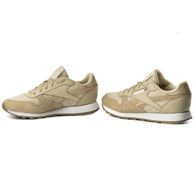 Chaussures Reebok - Cl Leather Estl BS9722 Straw/White - Sneakers - Chaussures basses