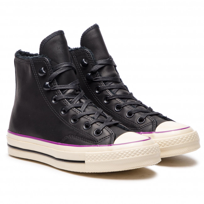 Sneakers CONVERSE - Chuck 70 Hi 162433C Black/Icon Violet - Baskets - Chaussures basses