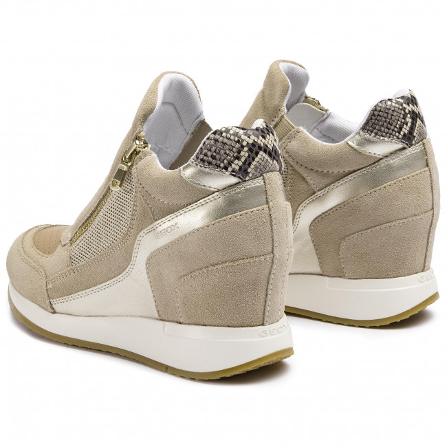 Sneakers GEOX - D Nydame A D620QA 022NF CH62L Lt Taupe/Lt Gold - Sneakers - Chaussures basses