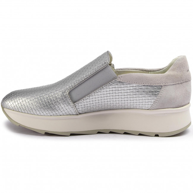 Sneakers GEOX - D Gendry A D925TA 0QU22 C0628 Silver/Off Wht - Sneakers - Chaussures basses