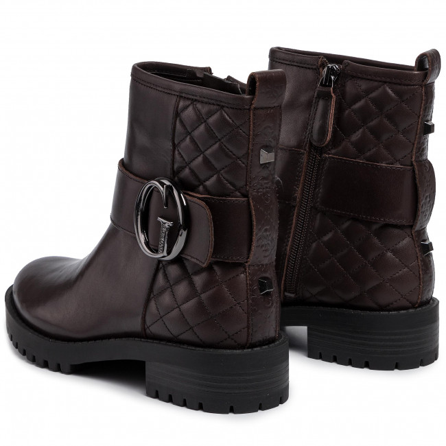 Bottines GUESS - Hadasa FL8HAD LEA10 DBROW - Bottines - Bottes et autres