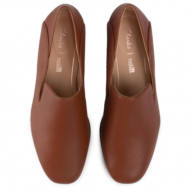 Loafers CLARKS - Pure Viola 261463024 Tan leather  - Loafers - Chaussures basses