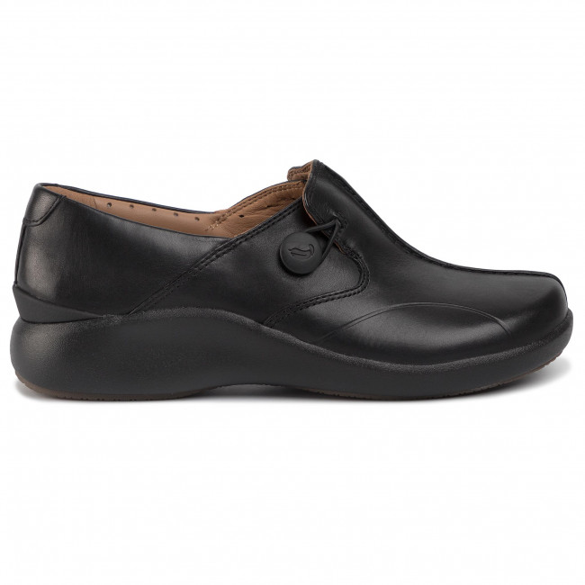 Chaussures basses CLARKS - Un. Loop2 Walk 261447574 Black Leather - Plates - Chaussures basses