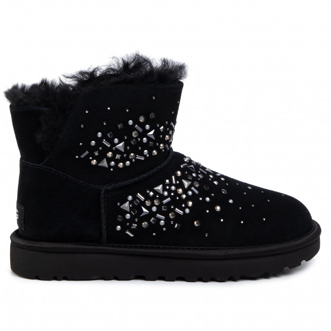 Chaussures UGG - W Classic Galaxy Bling Mini 1103799  Blk - UGG - Bottes et autres