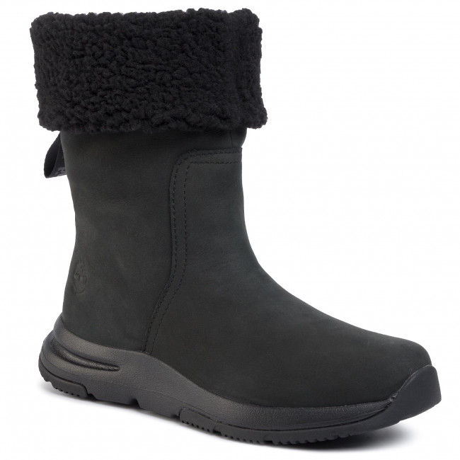 Bottes TIMBERLAND - Mabel Town Wp Pull On Boot TB0A22S9015 Black Nubuck - Bottes - Bottes et autres