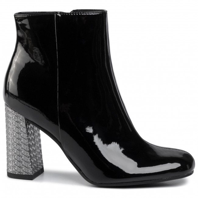 Bottines TOMMY HILFIGER - Elevated Patent High Heel Boot FW0FW04571 Black BDS - Bottines - Bottes et autres