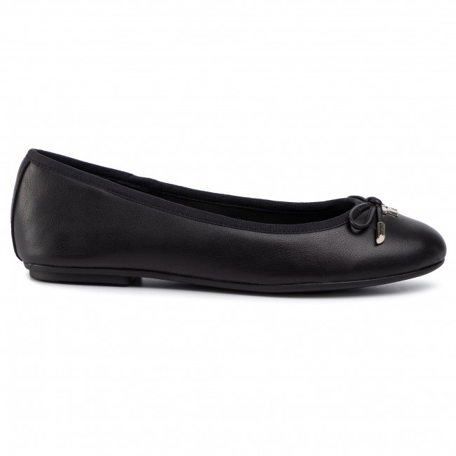 Ballerines TOMMY HILFIGER - Elevated Th Hardware Ballerina FW0FW04594 Black BDS - Ballerines - Chaussures basses