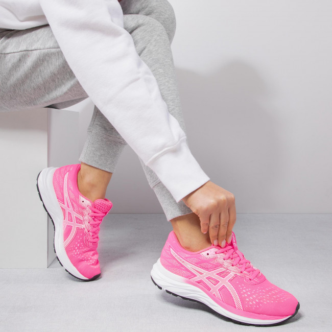 Chaussures ASICS - Gel-Excite 7 GS 1014A084 Hot Pink/White 700 - Running - Chaussures de sport