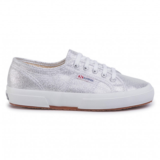 Sneakers SUPERGA - 2750 Lamew S001820  Grey Silver 031 - Baskets - Chaussures basses