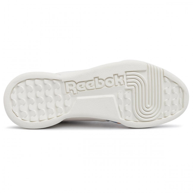 Chaussures Reebok - Workout Lo Plus EF8064 Chalk/Sunorg/Flublu - Sneakers - Chaussures basses