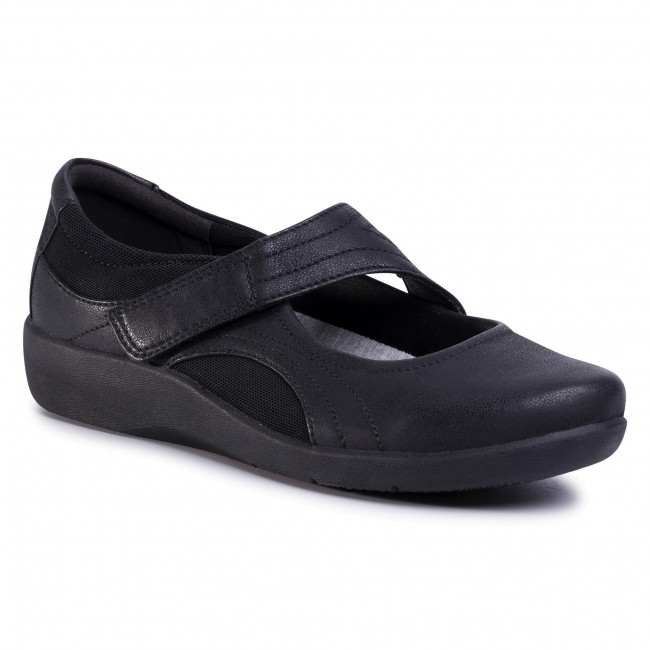 Chaussures basses CLARKS - Sillian Bella 261214574  Black - Plates - Chaussures basses