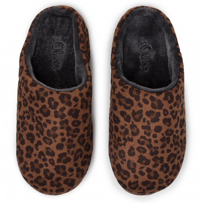 Chaussons S.OLIVER - 5-27101-33 Brown Leo 396 - Chaussons - Mules et sandales