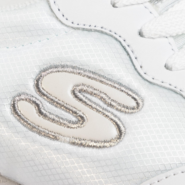 Sneakers SKECHERS - Goldn Gurl 111/WSL White/Silver  - Sneakers - Chaussures basses