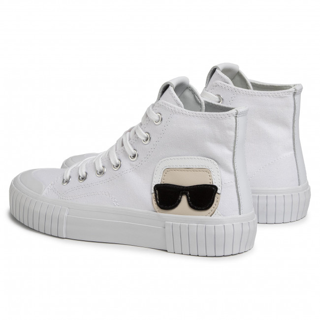 Sneakers KARL LAGERFELD - KL60250  White Canvas - Baskets - Chaussures basses