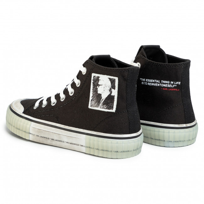 Sneakers KARL LAGERFELD - KL60251  Black Canvas - Baskets - Chaussures basses