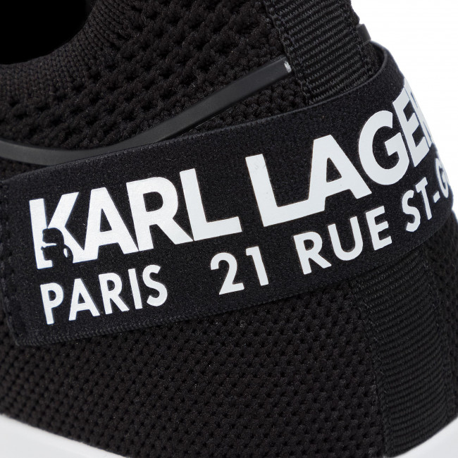 Sneakers KARL LAGERFELD - KL61111 Black Knit Textile - Sneakers - Chaussures basses