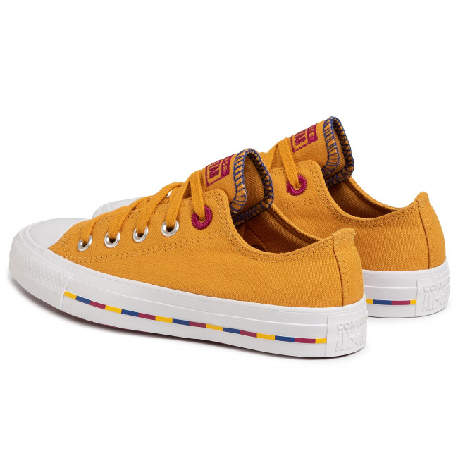 Sneakers CONVERSE - Ctas Ox 566719C Sunflower Gold/Rose Maroon - Baskets - Chaussures basses