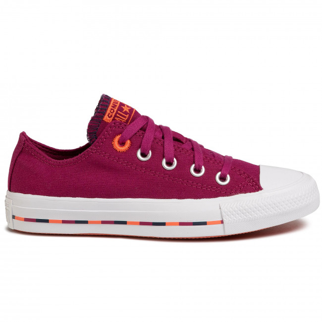 Sneakers CONVERSE - Ctas Ox 566720C Rose Maroon/Vermillion Red - Baskets - Chaussures basses