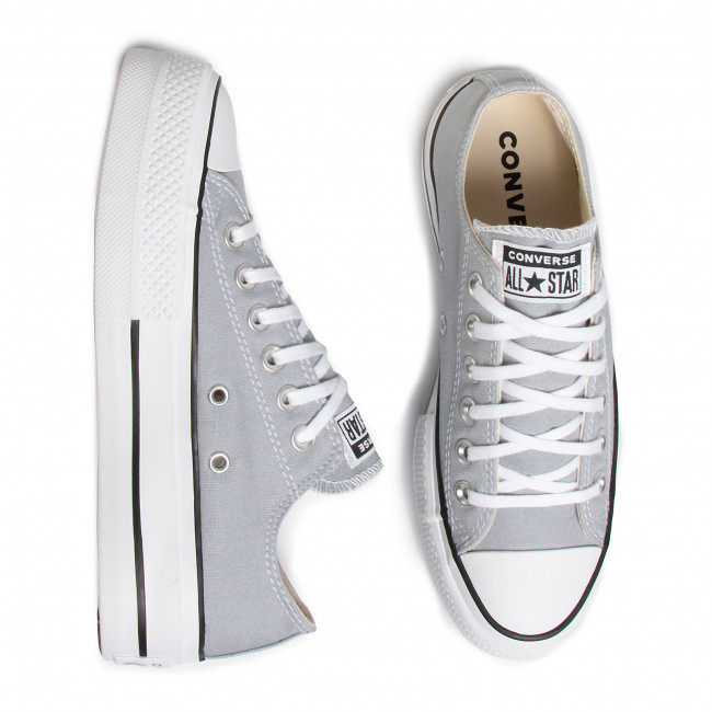 Sneakers CONVERSE - Ctas Lift Ox 566757C Wolf Grey/White/Black - Baskets - Chaussures basses