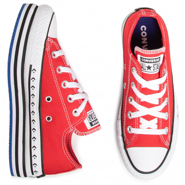 Sneakers CONVERSE - Ctas Platform Layer Ox 566763C University Red/White/Black - Baskets - Chaussures basses