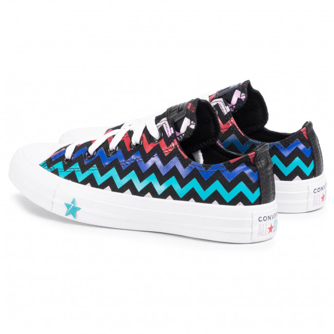 Sneakers CONVERSE - Ctas Ox 567102C Black/Peony Pink/Rapid Teal - Baskets - Chaussures basses