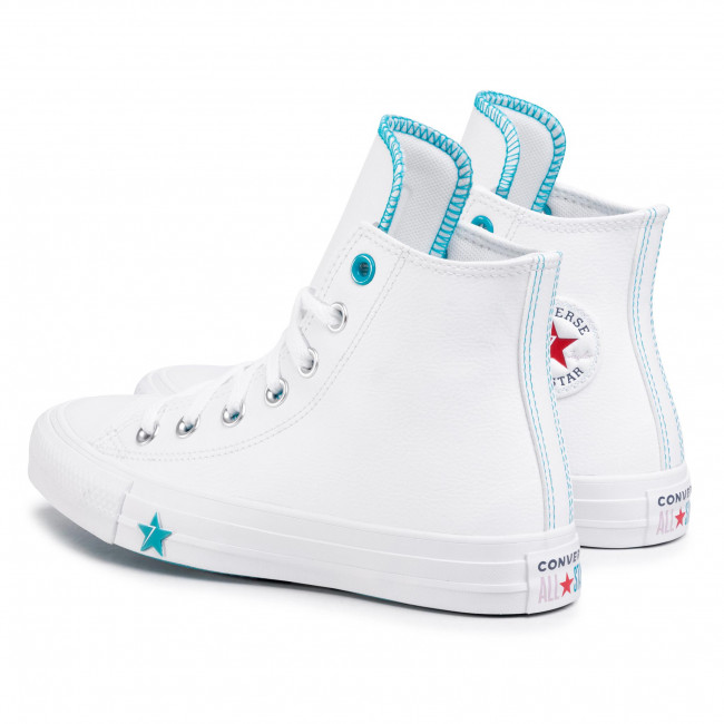 Sneakers CONVERSE - Ctas Hi 567127C White/Rapid Teal/White - Baskets - Chaussures basses