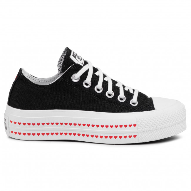 Sneakers CONVERSE - Ctas Lift Ox 567158C Black/University Red/White - Baskets - Chaussures basses